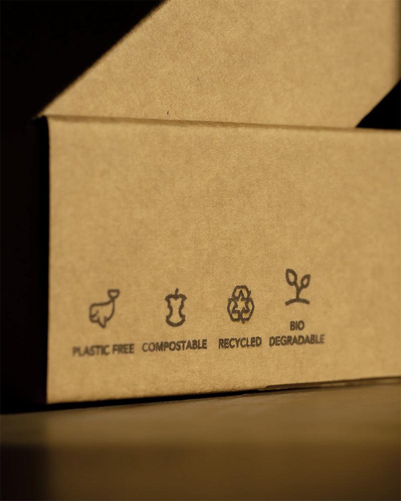 éco-conception de supports packaging recyclé